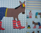 Pillow Panel and FQ SET - Beanie Hat Donkey