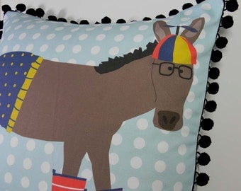 DIY Pillow Panel - Beanie Hat Donkey