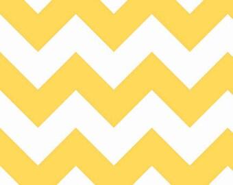 One (1) Yard-Riley Blake Large Sized Chevrons Fabric C330-50 Yellow