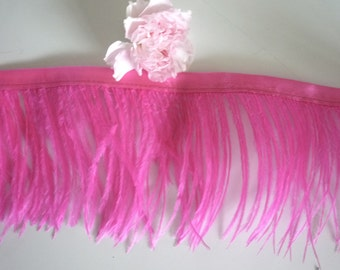 PICCOLO OSTRICH Fringe, Legally Blonde  Pink  /  2073