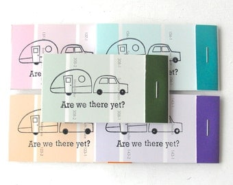 PAINT CHIP MATCHBOOK notepads Set of 5- Camper in brights
