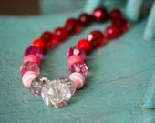 Red Ombre Chunky Necklace - The Heart Breaker