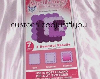 Spellbinders Shapeabilities Big Scalloped Squares SM S4-254