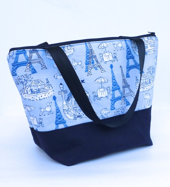 Insulated Lunch Bag Tote Zip Love Paris Adult Lunch Bag  by BonTons