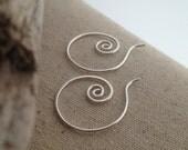Silver Spiral Question Earrings - MEDIUM- E066SS-M