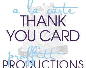 Printable thank you card in any theme offered in my store