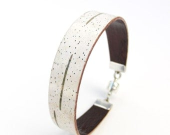 Birch bark cuff bracelet, The Skinny