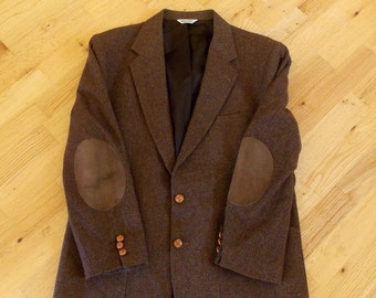 Mens Shawl Collar Sweater With Elbow Patches