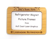 Labrador Retriever Dog Magnet Picture Frame
