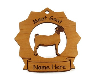 Meat Goat Personalized Ornament