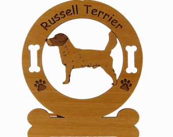 3481 Russell Terrier Standing  Personalized With Your Dog's Name
