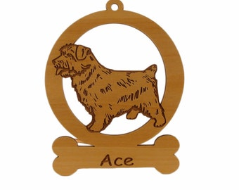 Norfolk Terrier Ornament 083605 Personalized With Your Dog's Name