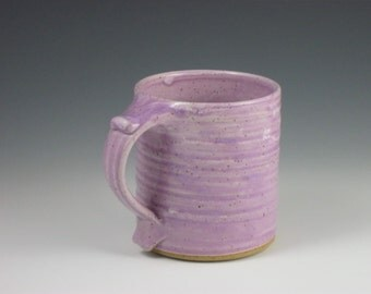 Glossy Violet Purple Thumbrest Coffee Mug