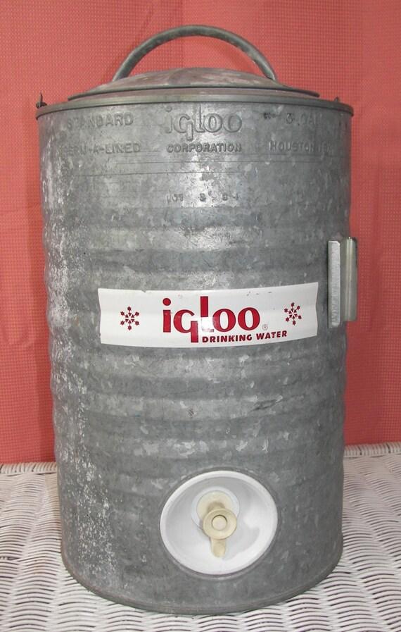Vintage galvanized igloo water cooler by zellesattic on etsy - Igloo vintage ...