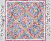 Starr Designs Hand Dyed Cotton Fabric Quilt Kit Throw Size Garden Trails Quilting Sewing Crafting fabrics