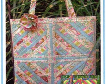Tote Bag Pattern, Squared Away Tote Bag by Moonlight Design ,FREE SHIPPING with Fabric Purchase