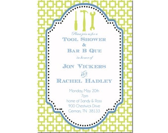 tool shower invitation- couples shower invitation- Digial File, print yourself - honey do shower