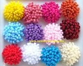 Reserved. YOU PICK  The Color Felt MUM/Pom Pom Flowers (24)