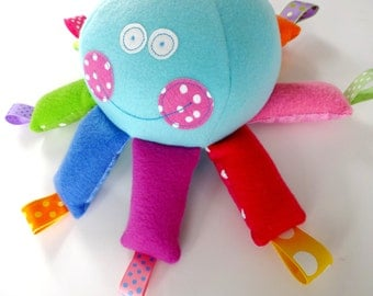 Octopus Softie Toy with Ribbons - PDF e-pattern