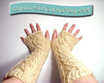 Extra Long Fingerless Gloves, Elbow Opera Length