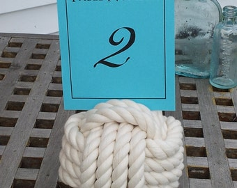 Monkey Fist Table Number or Menu Holder -Cotton