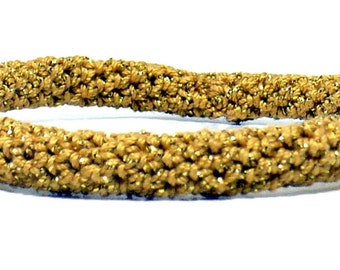 Crochet Bracelet Fiber Bracelet Bangle Fine Gold Thread Icord Rope Bracelet