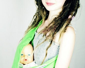 Apple Green Child's Pouch Sling for Dolls or Teddies suitable - 1-8 years