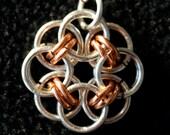 Celtic rose pendant