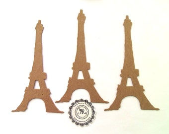 Distress Eiffel Tower, Eiffel Tower, Chipboard Eiffel Tower, no140 Tim Holtz, Paris Chipboard, Eiffel, Set of 3 by Annie42 - AR Creations