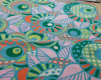 Fun Bright Mod Geometrics  - Vintage Fabric 70s New Old Stock