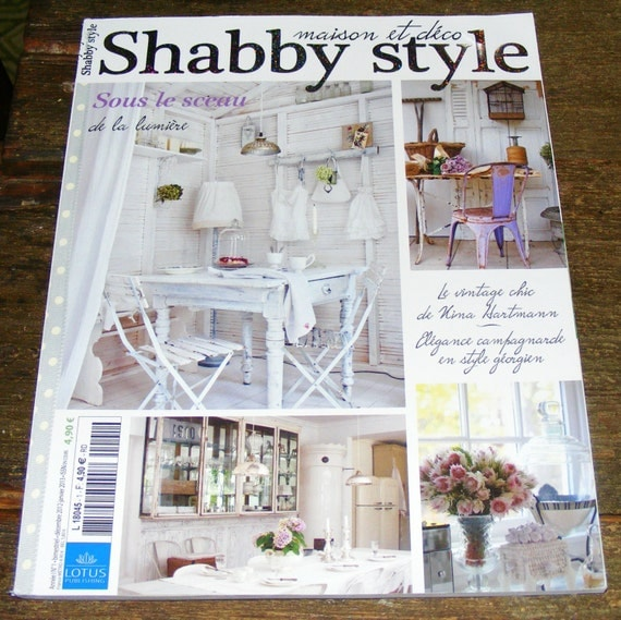 Shabby style french magazine maison et deco december january for Revue maison bricolage et decoration