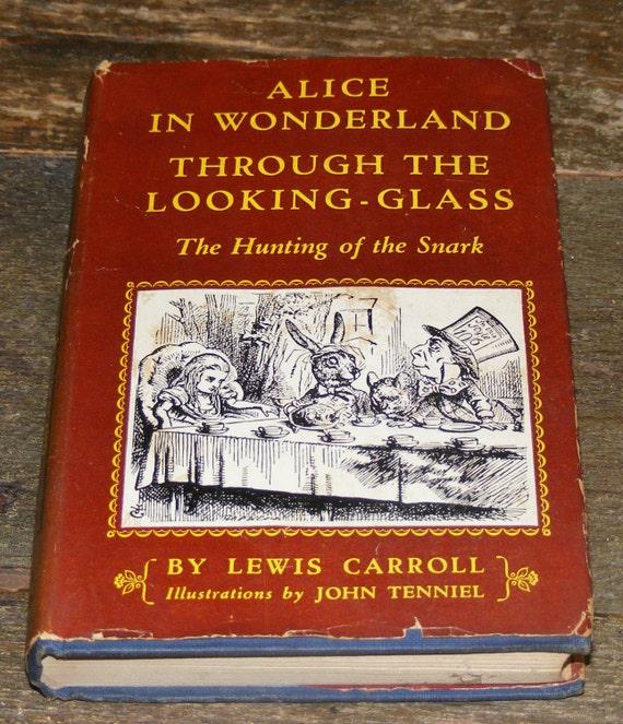 John Cotton Books: 1940s Modern Library Alice In Wonderland Through By