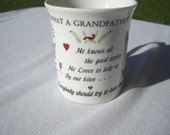 Vintage What a Grandfather is Coffee Mug by The Original Red Plate Co. by Sandi Wickersham Resnick 1985