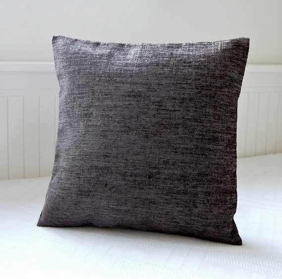 15 Inch Throw Pillow Covers : gray decorative pillow cover 15 inch cushion cover charcoal