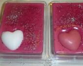 Raspberry Hearts Wax Tart