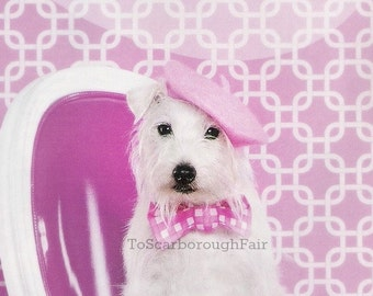 Berets for Dogs - Puppy Beret Original - Bridesmaids Movie Beret  - Original Brides Magazine Feature -  Dog French Beret