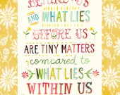 Within Us art print  | Watercolor Quote | Inspirational Lettering | Wall art | 8x10 | 11x14