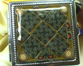 CLEARANCE Compact Mirror Brown Kaleidoscope Mosaic in Polymer Clay