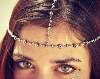 CHAIN HEADPIECE- head chain headdress beaded head chain
