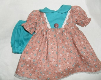 Dress and Panties fits American Girl & Gotz  Dolls 16 18 inch handmade