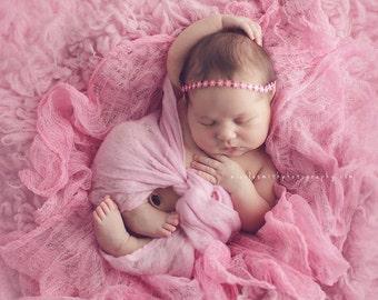 Merino Wrap Layering Blanket Pale Pink