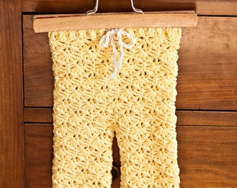 Crochet PATTERN - Seamless Lace Leggings (sizes baby, toddler, child)