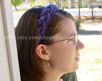 The Janet - Braided Headband - In Amethyst