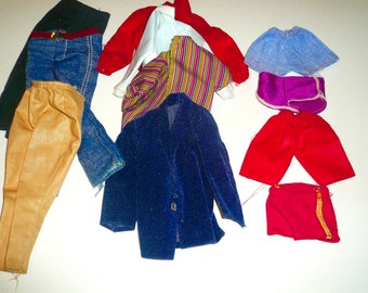 Toy Doll Vintage Mattel Ken Clothing Pants Jacket Swimwear Lot Collectible