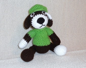 Crocheted Amigurumi Puppy Dog