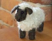Needle Felted Animal Large Curly Haired Sheep