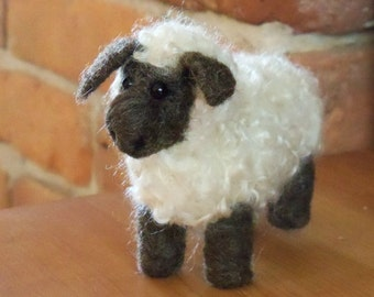 Needle Felted Animal Large Curly Haired Sheep