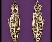 SALMON- Earrings- Bronze