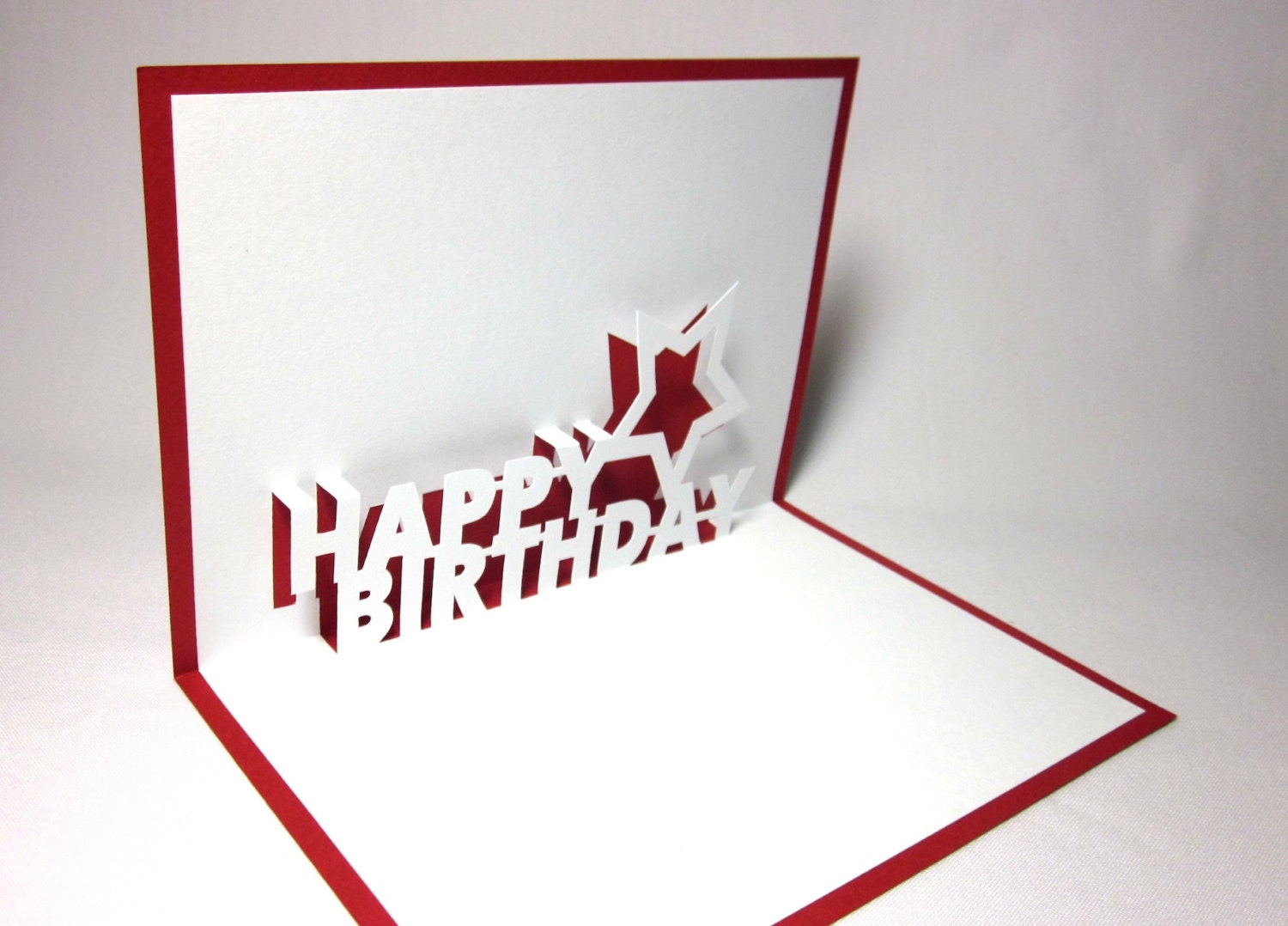 happy birthday pop up card by galinblack on etsy. Black Bedroom Furniture Sets. Home Design Ideas