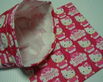 2pc Set Hello Kitty  Reusable Sandwich and Snack Bag